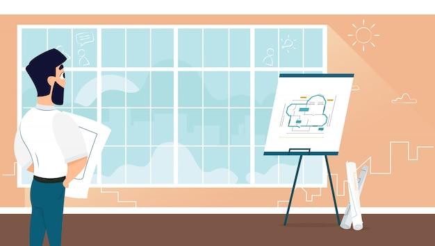 男性建築家試験室デザイン計画