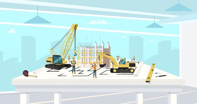 Проект в архитектурном бюро строительного дома.