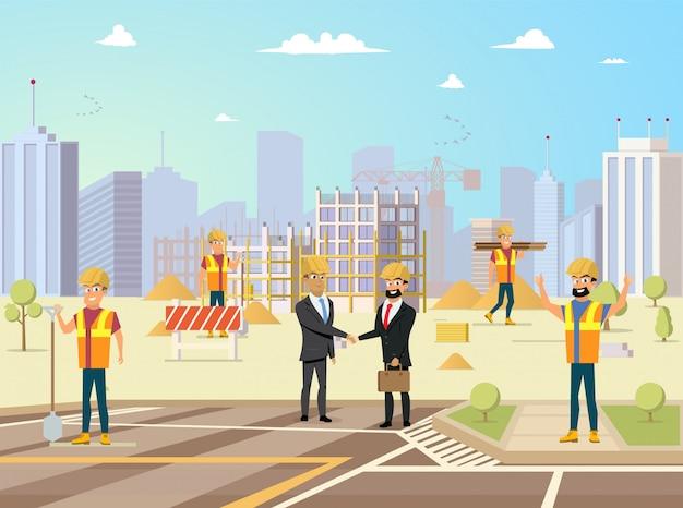 成功した建設プロジェクトのベクトルの概念
