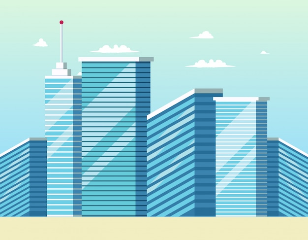 コンセプト近代都市建設ビル
