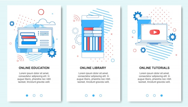 スマートフォンでのオンライン教育、図書館、チュートリアルサービス