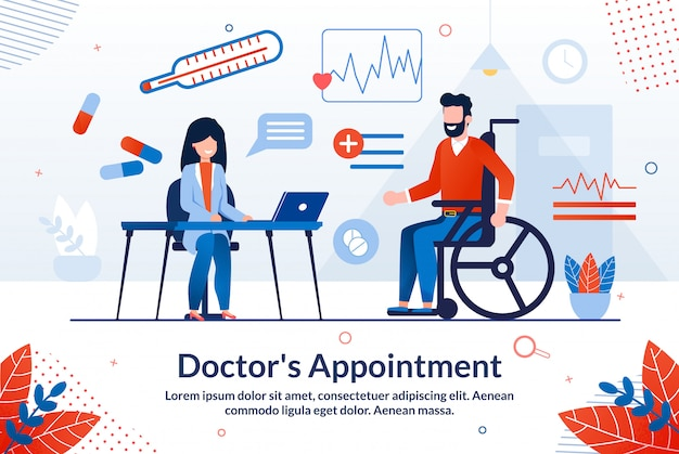 有益なポスターは、書かれた医師の予定です。