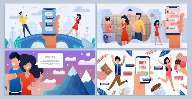 Набор мобильных приложений для онлайн знакомств и общения