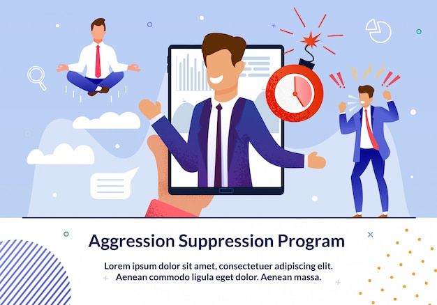 Иллюстрация о программе подавления агрессии.