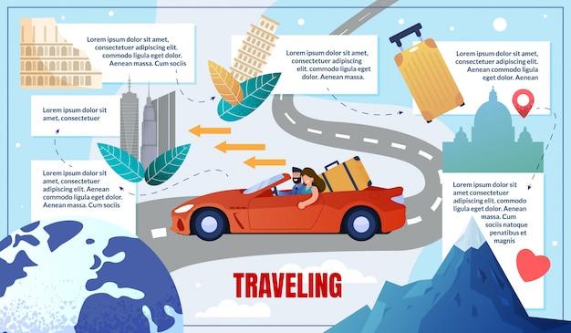 自動車都市による情報満載のバナー旅行