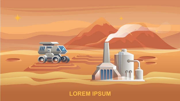 イラスト火星植民地化第一宇宙飛行士