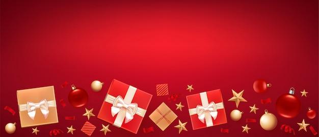 クリスマスの挨拶バナーの背景