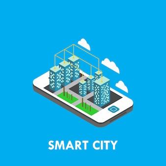 Иллюстрация дизайна изометрического векторного шаблона города