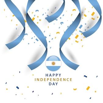 ハッピーアルゼンチンの独立した日のベクトルテンプレートデザイン