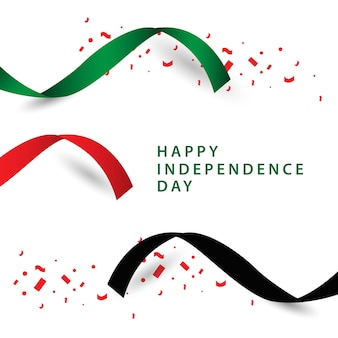 Счастливый дизайн векторного шаблона независимого дня в оаэ