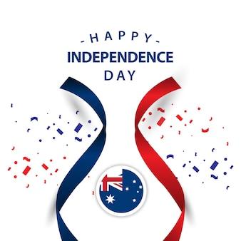 ハッピーオーストラリアの独立した日のベクトルデザインイラスト