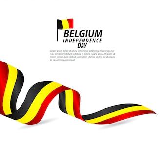 ベルギー独立記念日のお祝いベクトルテンプレートデザインイラスト