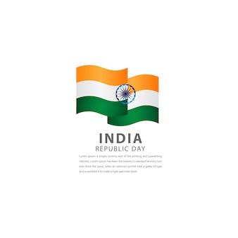 幸せなインドの独立記念日のお祝いテンプレートデザインイラスト