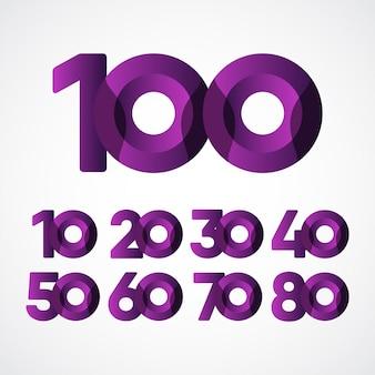 年周年記念お祝い紫テンプレート