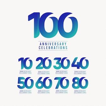 周年記念お祝いテンプレートデザインイラスト