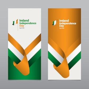 Счастливый день независимости ирландии празднование шаблона дизайна иллюстрация