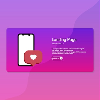 ランディングページのフラットデザイン