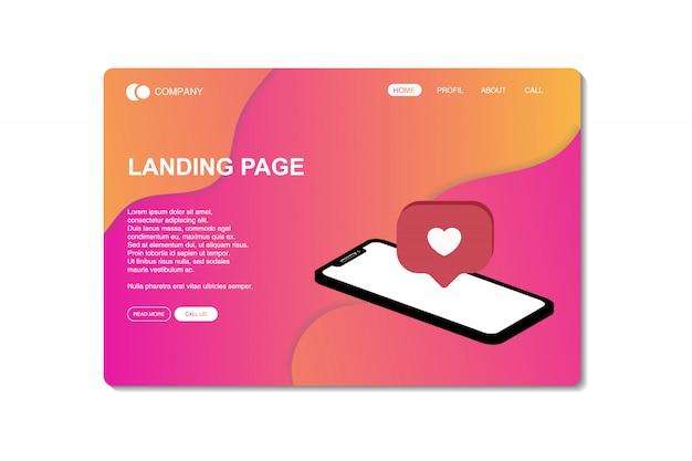 Плоский дизайн целевой страницы