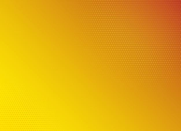 黄色のグラデーションハーフトーン背景テンプレート