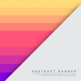 Абстрактный плоский желтый, розовый и синий фон шаблона