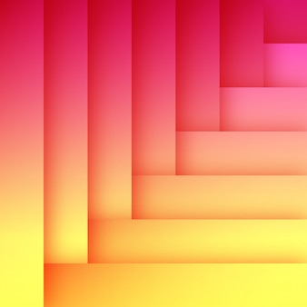 抽象的なフラットオレンジとピンクの背景のテンプレート