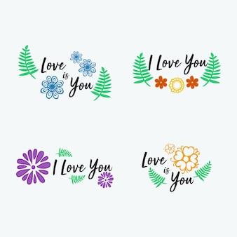 花の愛の背景