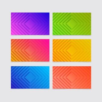 Красочный градиент геометрического фона коллекции