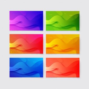 Красочный градиент геометрических фигур фон коллекции