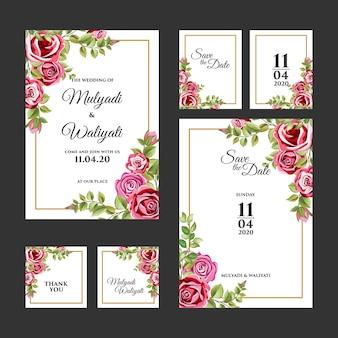 Декоративный цветочный орнамент свадебные приглашения шаблон