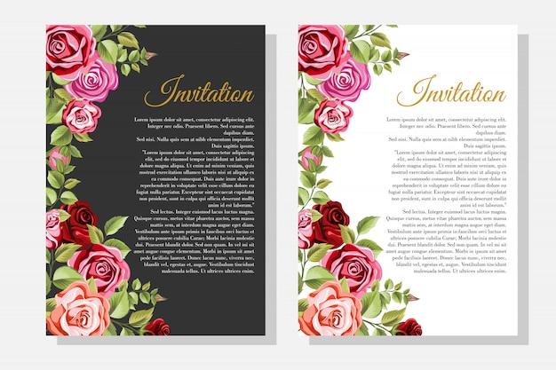 Набор декоративной рамки с цветочным орнаментом и листьями