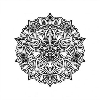 Роскошный ручной рисунок мандалы орнамент