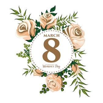 Иллюстрация растительного орнамента для международного женского дня