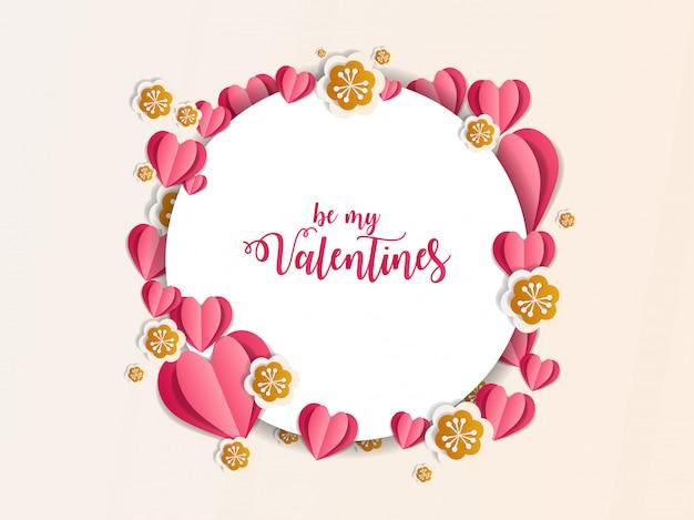 バレンタイン飾り紙アートイラスト