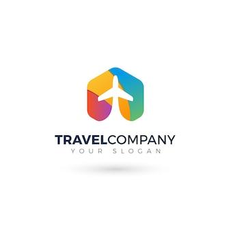 旅行機のカラフルなロゴ