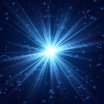 Космическое сияние прекрасного света