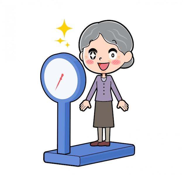 アウトラインパープルウェアおばあちゃんダイエット体重