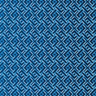 青いパターンのシームレスな背景