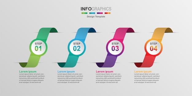 Креативный инфографики дизайн шаблона