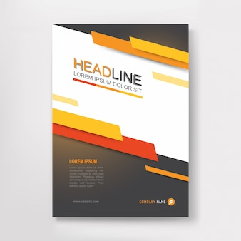 ベクター年次報告書ビジネスパンフレット、チラシのデザイン