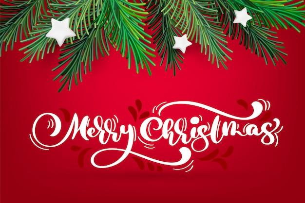 Новогодний и рождественский венок с белой каллиграфией