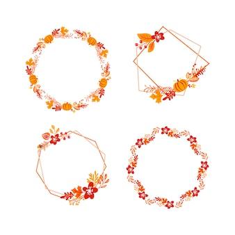 バンドルフレーム秋の花束花輪