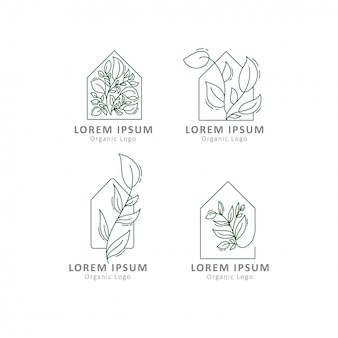 Шаблоны логотипов зеленого дома