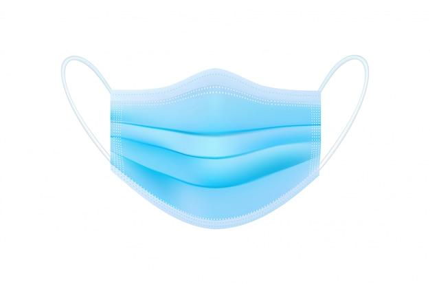 Защитная медицинская маска с ушным ремешком прикрывает рот и нос, предотвращая попадание пыли, запаха и различных микробов