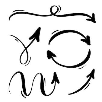 抽象的な矢印セット