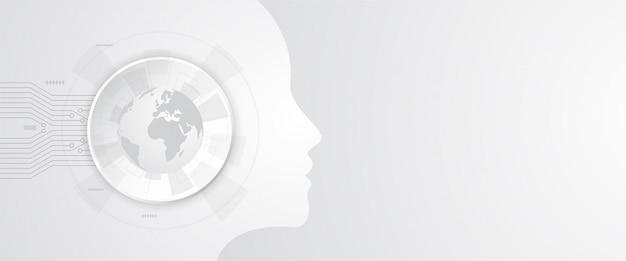 Шаблон фона технологии искусственного интеллекта