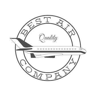 最高の航空会社のレトロなラベル