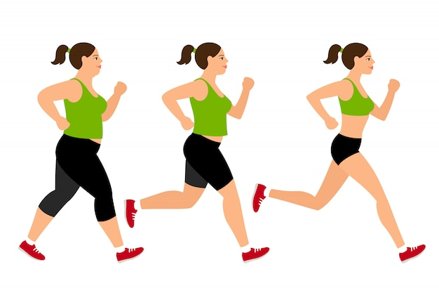 ジョギング減量女性