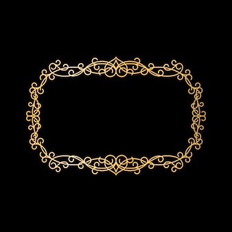 Золотая винтажная рамка-орнамент