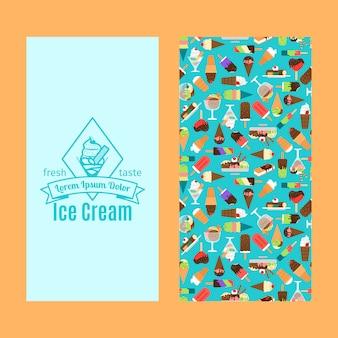 Вертикальный дизайн флаера для мороженого