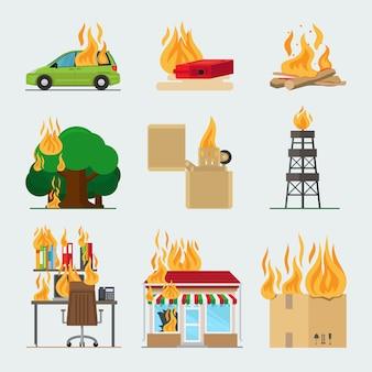 Огненные значки